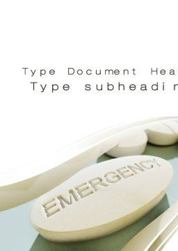 Emergency Tablet Word Template, Cover Page, 09883, Medical — PoweredTemplate.com