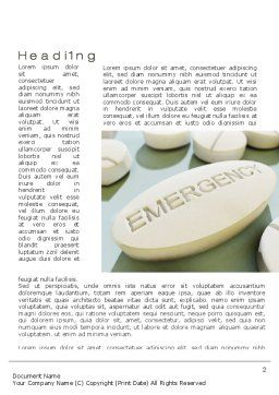 Emergency Tablet Word Template, First Inner Page, 09883, Medical — PoweredTemplate.com