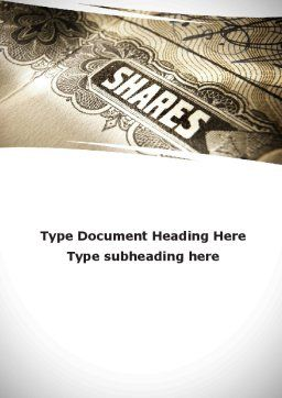 Shares Word Template, Cover Page, 09884, Financial/Accounting — PoweredTemplate.com