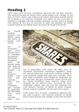 Shares Word Template, First Inner Page, 09884, Financial/Accounting — PoweredTemplate.com