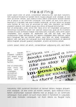 To Make It Possible Word Template, First Inner Page, 09885, Consulting — PoweredTemplate.com