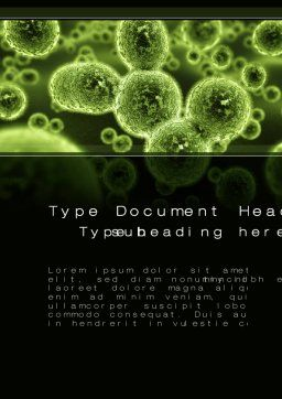 Growth Of Virus Word Template, Cover Page, 09888, Technology, Science & Computers — PoweredTemplate.com