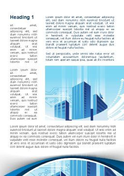 Blue Cities Of The Future Word Template, First Inner Page, 09890, Business — PoweredTemplate.com