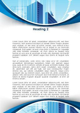Blue Cities Of The Future Word Template, Second Inner Page, 09890, Business — PoweredTemplate.com