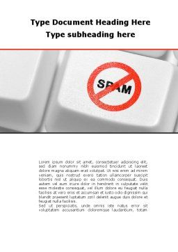 Anti Spam Defense Word Template, Cover Page, 09891, Technology, Science & Computers — PoweredTemplate.com