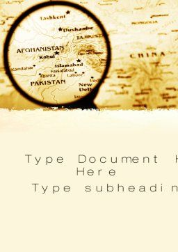 Map Of Afghanistan Word Template, Cover Page, 09892, Flags/International — PoweredTemplate.com