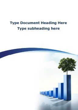 Growing Histogram Word Template Cover Page
