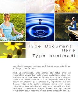 Outdoor Meditation Word Template, Cover Page, 09894, Medical — PoweredTemplate.com