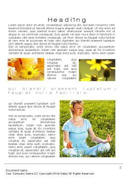 Outdoor Meditation Word Template, First Inner Page, 09894, Medical — PoweredTemplate.com
