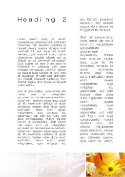 Outdoor Meditation Word Template, Second Inner Page, 09894, Medical — PoweredTemplate.com