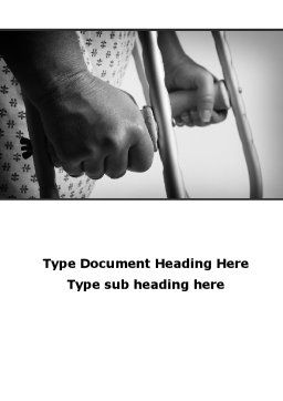 Crutches Word Template, Cover Page, 09904, Medical — PoweredTemplate.com