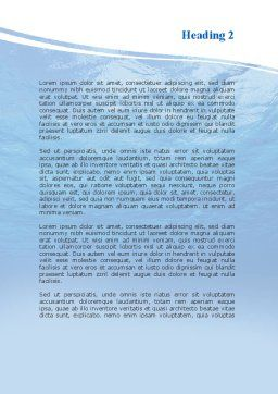 Picture Taken Under Water Word Template, Second Inner Page, 09905, Nature & Environment — PoweredTemplate.com