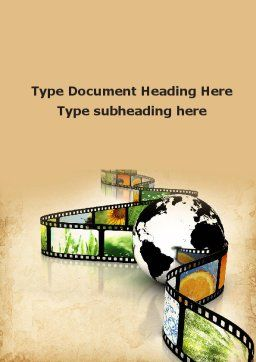 Nature Documentary Movies Word Template Cover Page