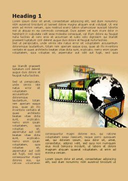 Nature Documentary Movies Word Template First Inner Page