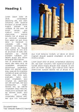 Ruins Of Ancient Greek Temple Word Template, First Inner Page, 09908, Holiday/Special Occasion — PoweredTemplate.com
