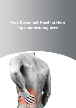 Rheumatic Disease Word Template, Cover Page, 09909, Medical — PoweredTemplate.com