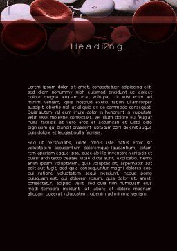 Red And White Blood Cells Word Template, Second Inner Page, 09912, Medical — PoweredTemplate.com