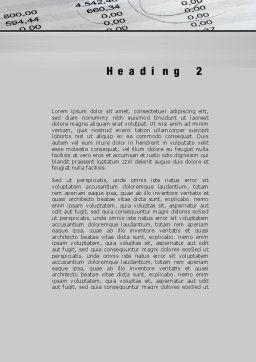 Calculation Result Word Template Second Inner Page