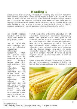 New Crop Of Maize Word Template First Inner Page