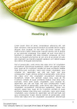 New Crop Of Maize Word Template Second Inner Page