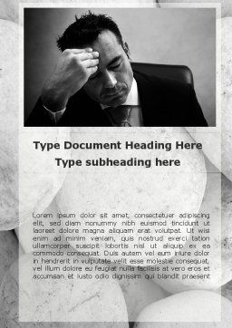Headache From The Problems Word Template, Cover Page, 09919, Business Concepts — PoweredTemplate.com