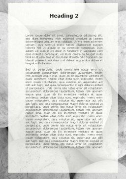 Headache From The Problems Word Template, Second Inner Page, 09919, Business Concepts — PoweredTemplate.com