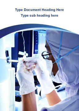 Hardware Medical Tests Word Template, Cover Page, 09920, Medical — PoweredTemplate.com