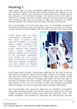 Hardware Medical Tests Word Template, First Inner Page, 09920, Medical — PoweredTemplate.com