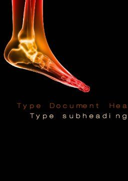 Ankle Radiography Word Template, Cover Page, 09925, Medical — PoweredTemplate.com