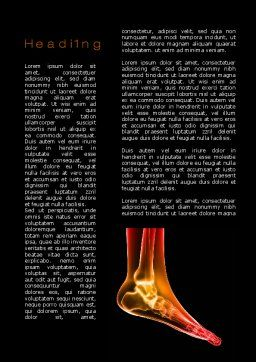 Ankle Radiography Word Template, First Inner Page, 09925, Medical — PoweredTemplate.com