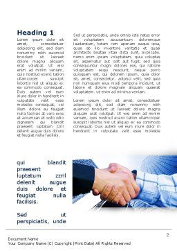 Handshake In Blue Colors Word Template, First Inner Page, 09926, Business — PoweredTemplate.com