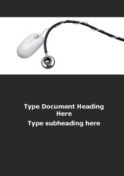 Phonendoscope and Computer Mouse Word Template, Cover Page, 09928, Medical — PoweredTemplate.com