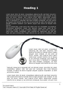 Phonendoscope and Computer Mouse Word Template, First Inner Page, 09928, Medical — PoweredTemplate.com