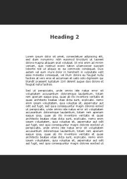 Phonendoscope and Computer Mouse Word Template, Second Inner Page, 09928, Medical — PoweredTemplate.com