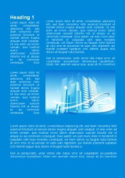 Blue City Word Template, First Inner Page, 09929, Construction — PoweredTemplate.com