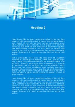 Blue City Word Template, Second Inner Page, 09929, Construction — PoweredTemplate.com