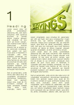 Rise Of Savings Word Template First Inner Page