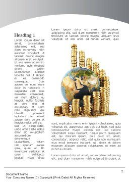 World Financial Reserves Word Template First Inner Page