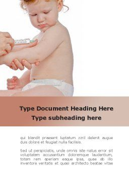 Childhood Vaccination Word Template, Cover Page, 09934, Medical — PoweredTemplate.com