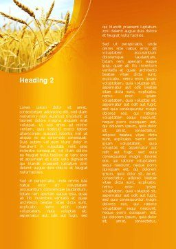 Golden Ear Of The Wheat Word Template Second Inner Page