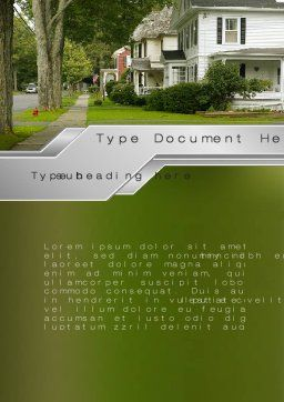 Suburban Lane Word Template, Cover Page, 09937, Construction — PoweredTemplate.com
