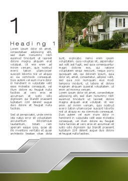 Suburban Lane Word Template, First Inner Page, 09937, Construction — PoweredTemplate.com