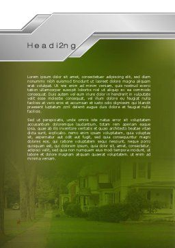 Suburban Lane Word Template, Second Inner Page, 09937, Construction — PoweredTemplate.com