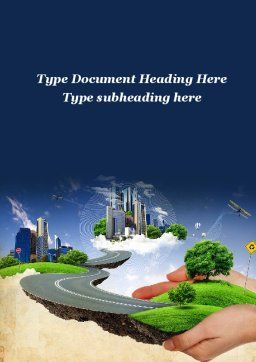 Road To The Beautiful City Word Template Cover Page
