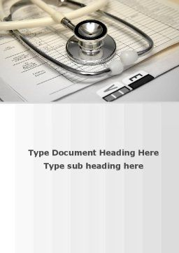 Doctor Accessories Word Template, Cover Page, 09940, Medical — PoweredTemplate.com