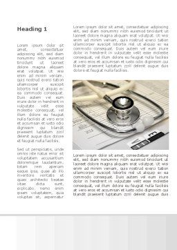 Doctor Accessories Word Template, First Inner Page, 09940, Medical — PoweredTemplate.com