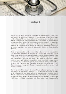 Doctor Accessories Word Template, Second Inner Page, 09940, Medical — PoweredTemplate.com