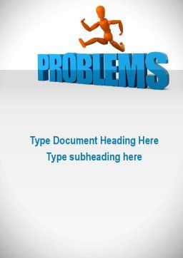 Jumping Over Problems Word Template, Cover Page, 09941, Consulting — PoweredTemplate.com
