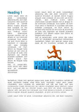 Jumping Over Problems Word Template, First Inner Page, 09941, Consulting — PoweredTemplate.com