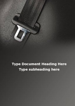 Seat Belt Word Template, Cover Page, 09942, Cars/Transportation — PoweredTemplate.com